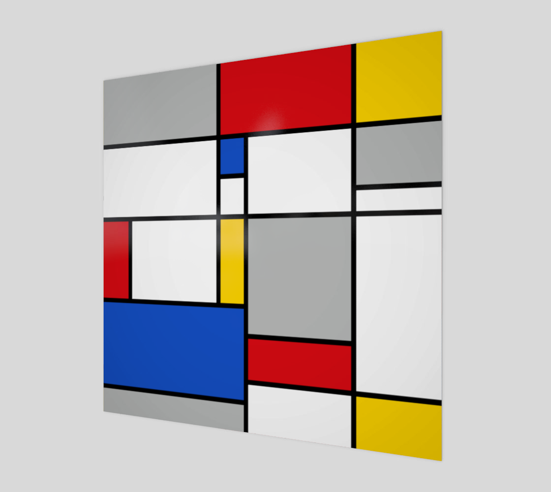 Geometric Retro Mondrian Style Color Composition preview