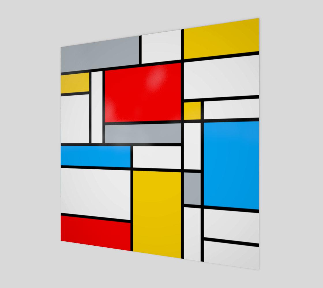 Mondrian Style Color Composition preview