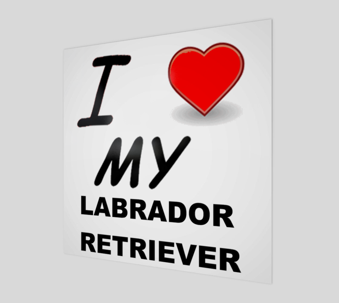 Labrador Retriever love wood poster wall art preview