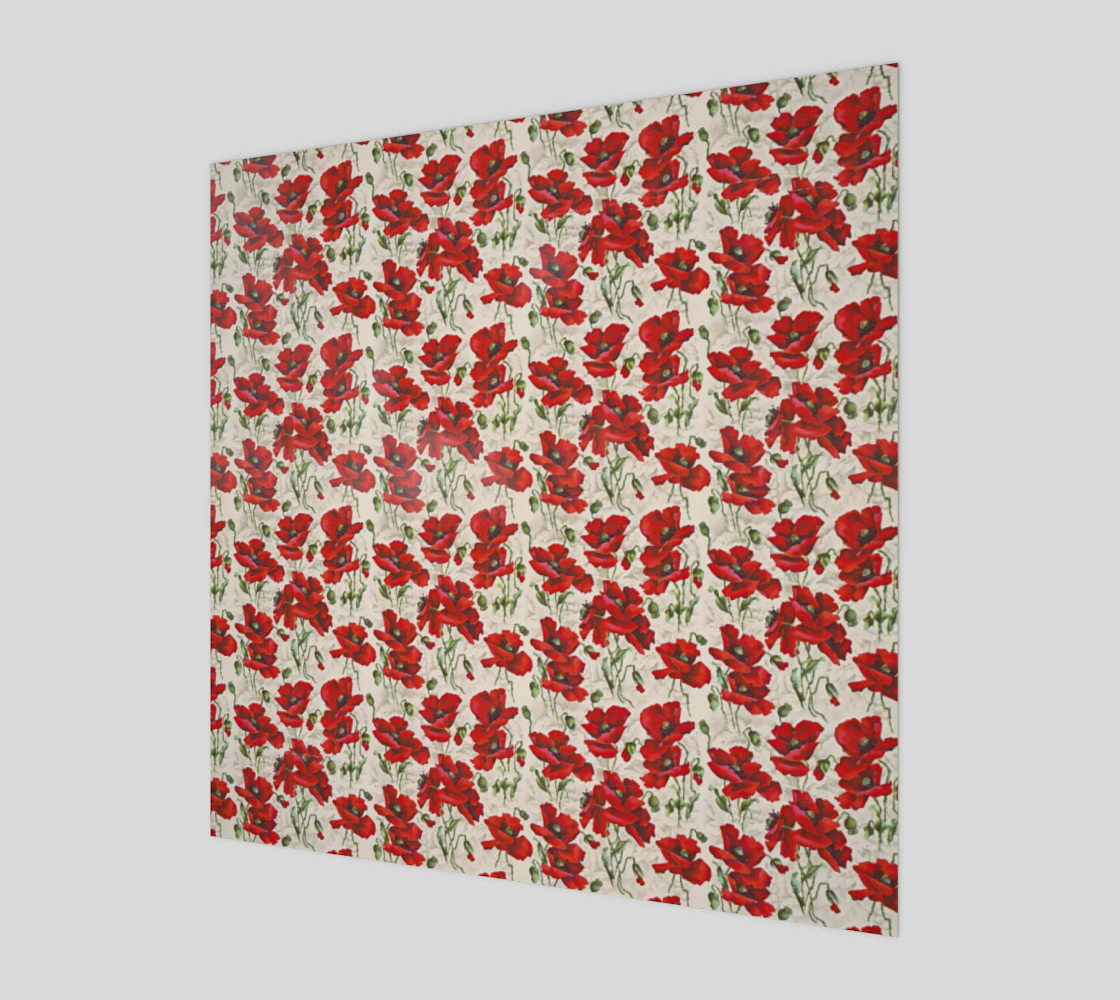 Vintage Red Poppy Floral Pattern preview