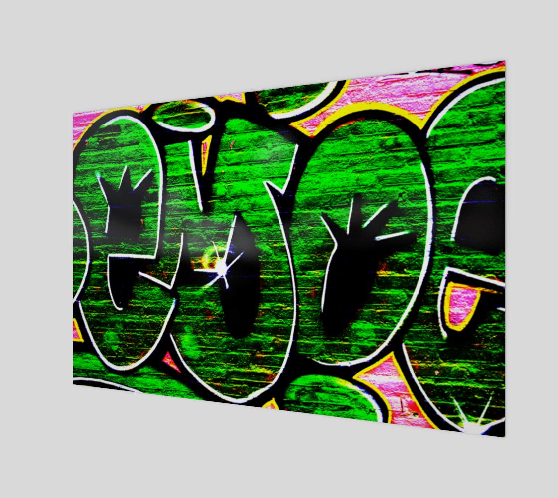 Graffiti 18 Wood Print preview #1