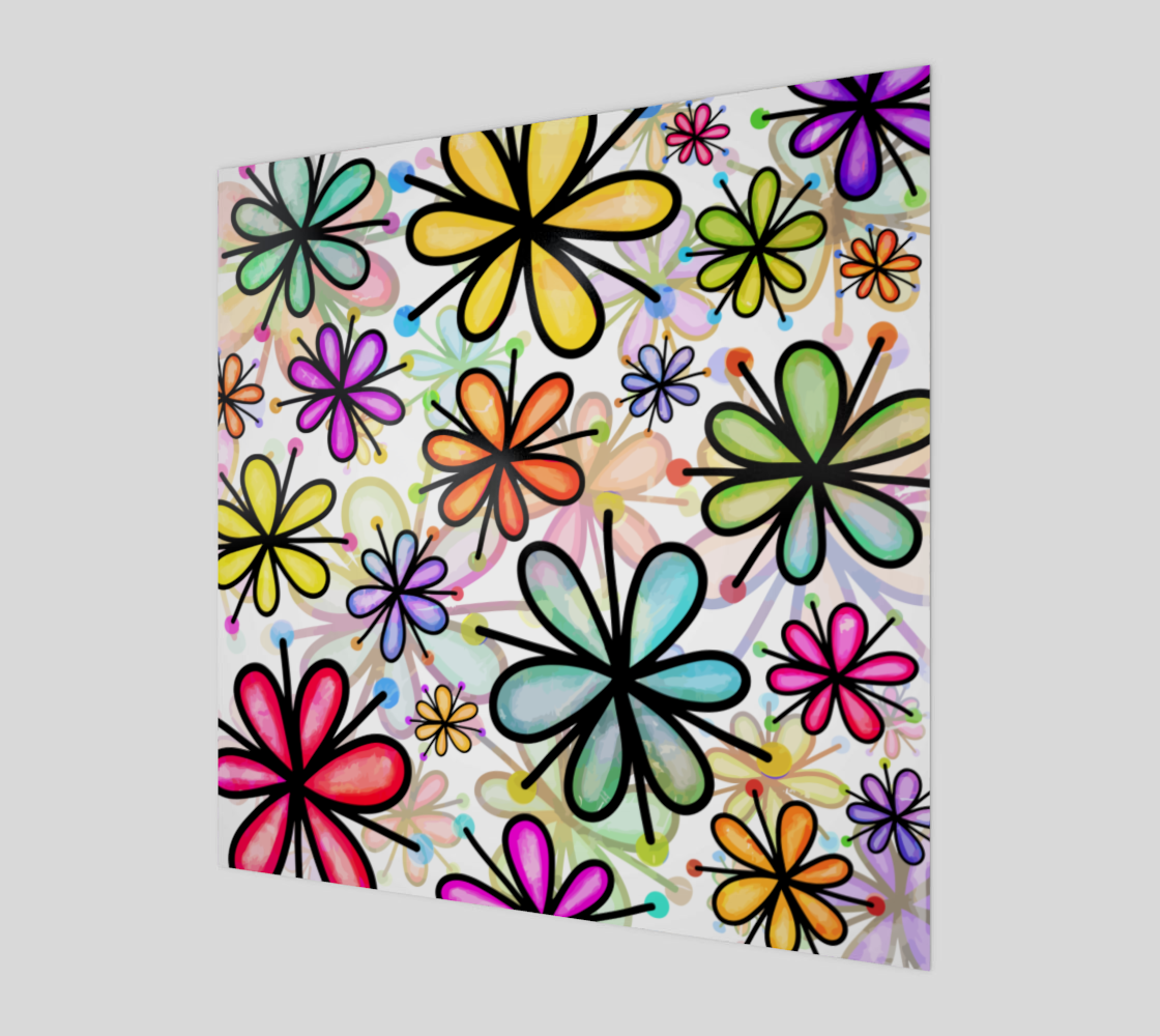 Watercolor Doodle Daisy Flower Pattern preview