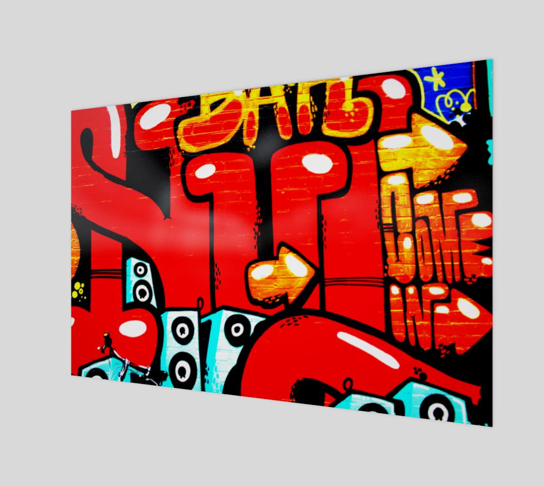 Graffiti 19 Wood Print preview