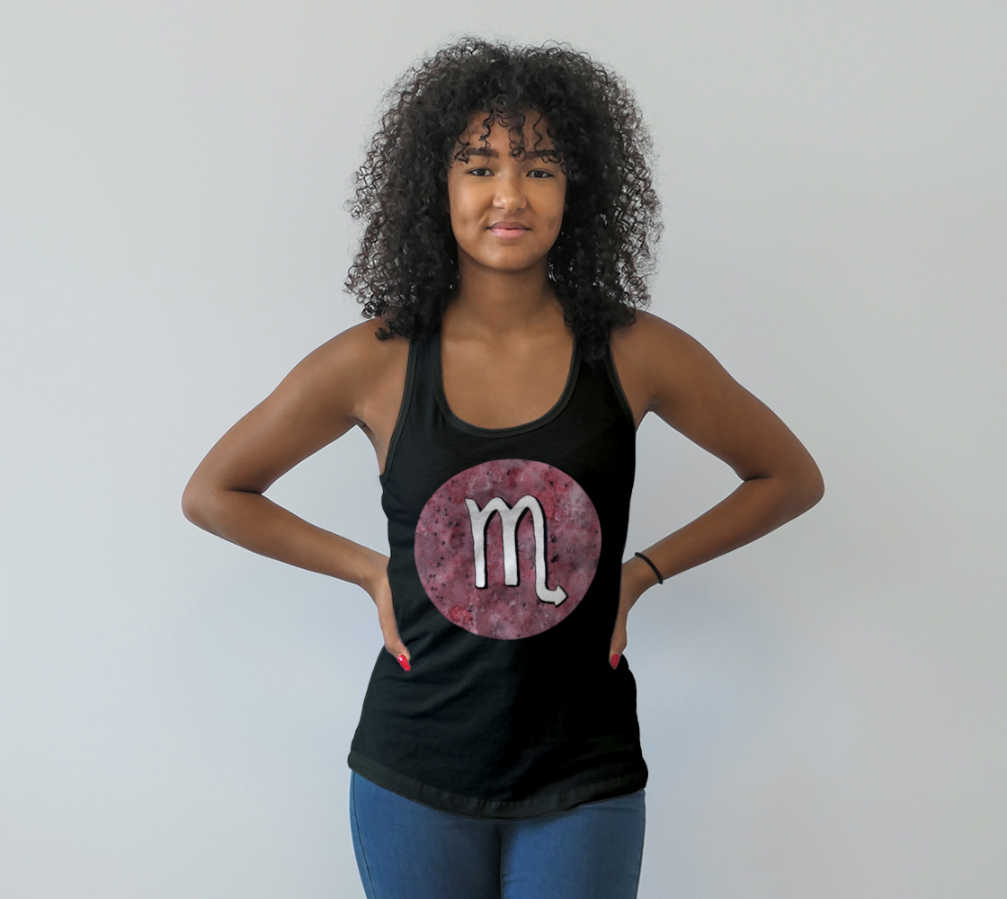 Scorpio astrological sign Racerback Tank Top preview