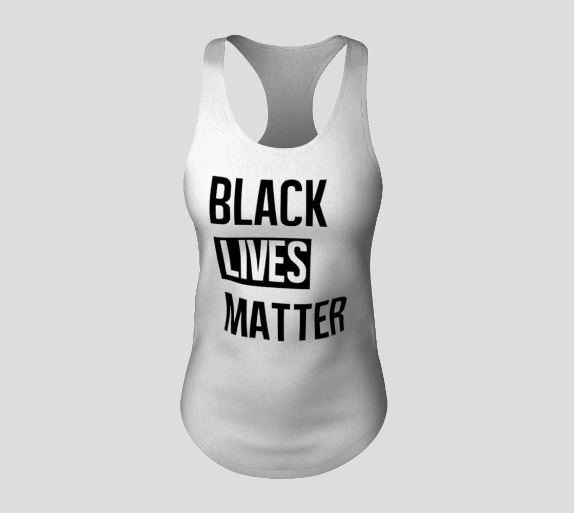 Black Lives Matter Bold BLM Typography Racerback Tank Top, AWSDG preview #3