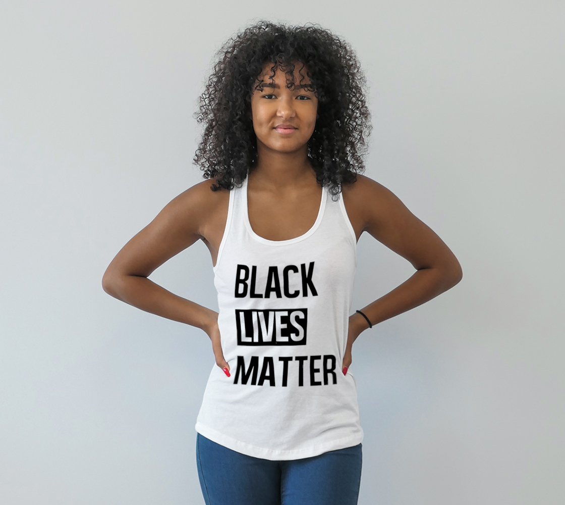 Black Lives Matter Bold BLM Typography Racerback Tank Top, AWSDG preview