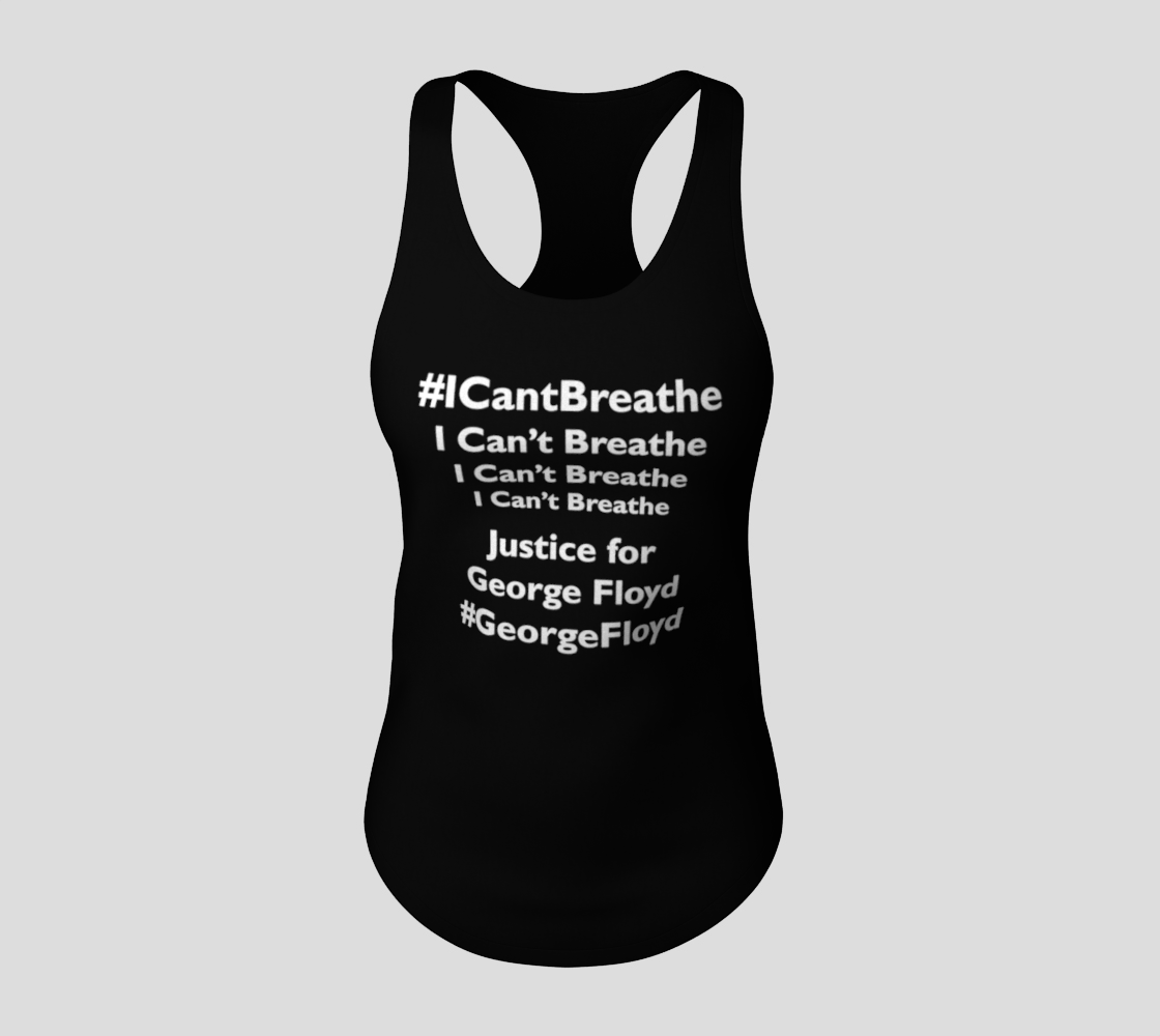 I Can't Breathe George Floyd Last Words BLM Racerback Tank Top, AWSDG preview #3