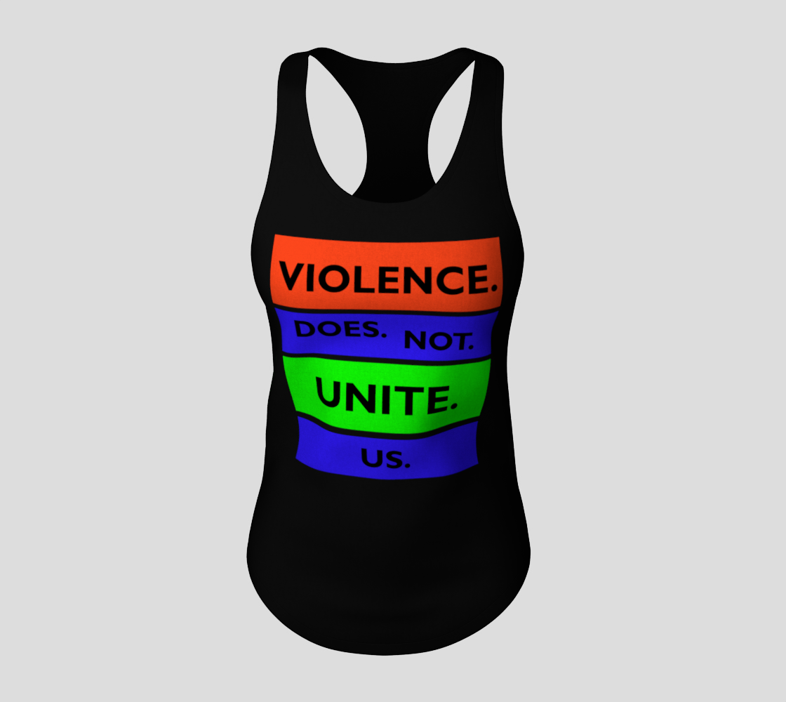 Violence Does Not Unite Us Period Racerback Tank Top, AWSDG preview #3
