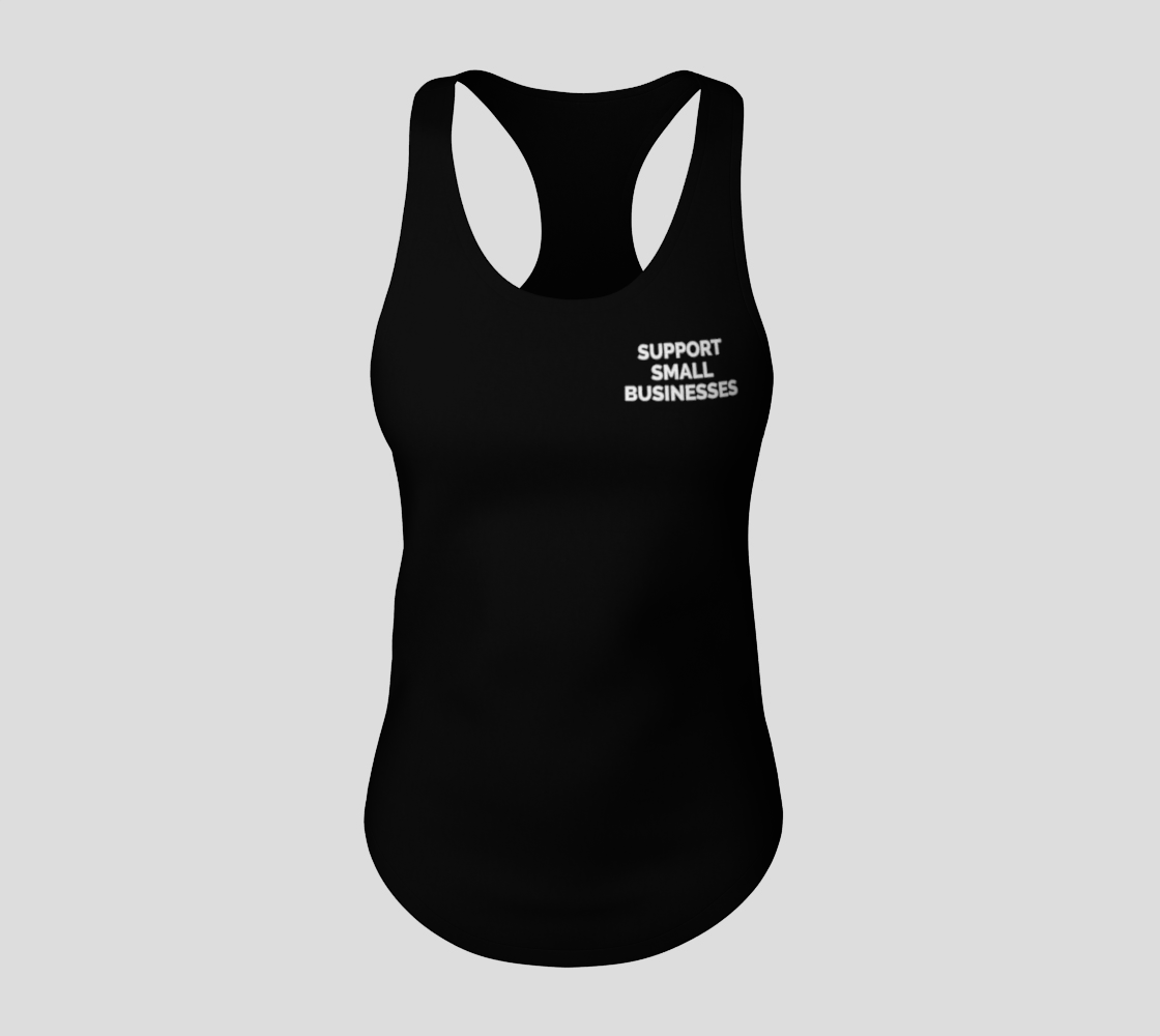 Support Small Businesses - dark tank, white text preview #3