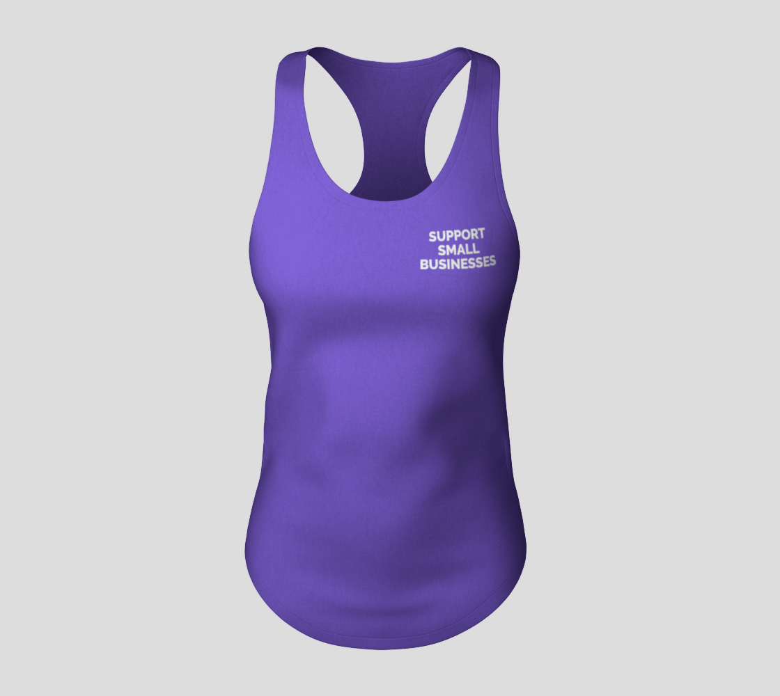 Support Small Businesses - bright tank, white text preview #3