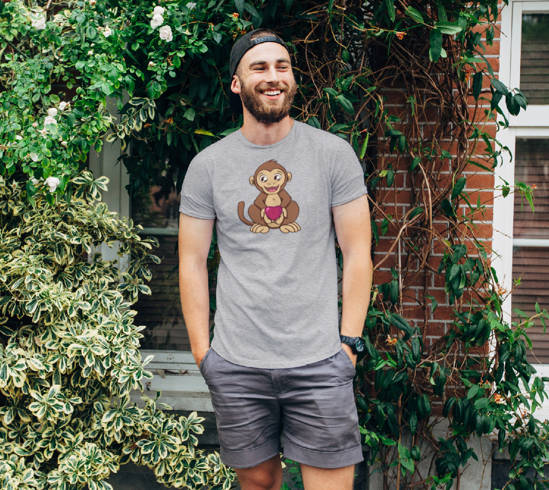 Monkey love Unisex Tee preview