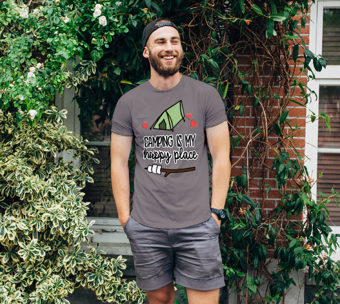 Camping Is My Happy Place Unisex T-Shirt, AOWSGD preview