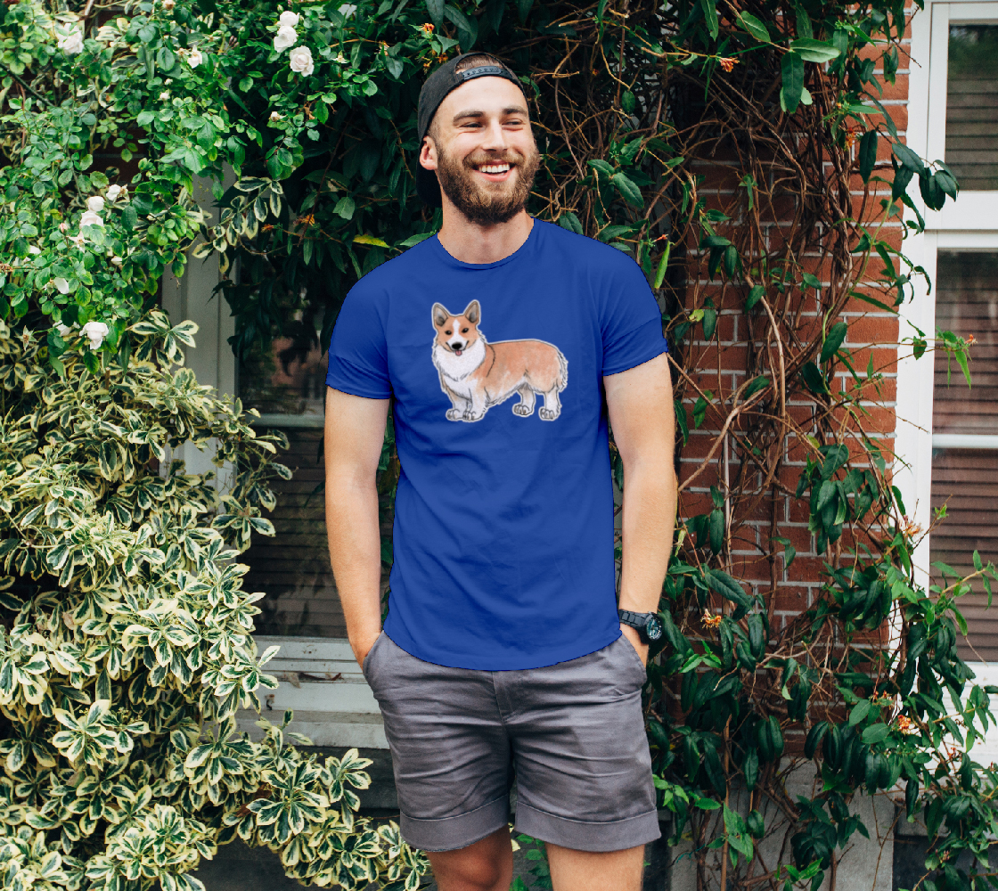 Welsh corgi dog Unisex Tee preview