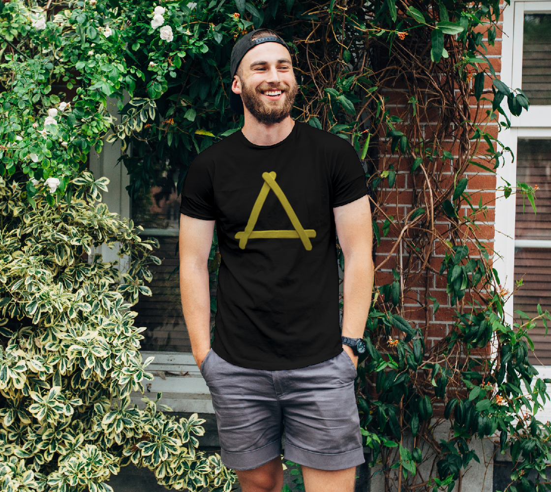 Popstick Triangle in Yellow Unisex Tee preview