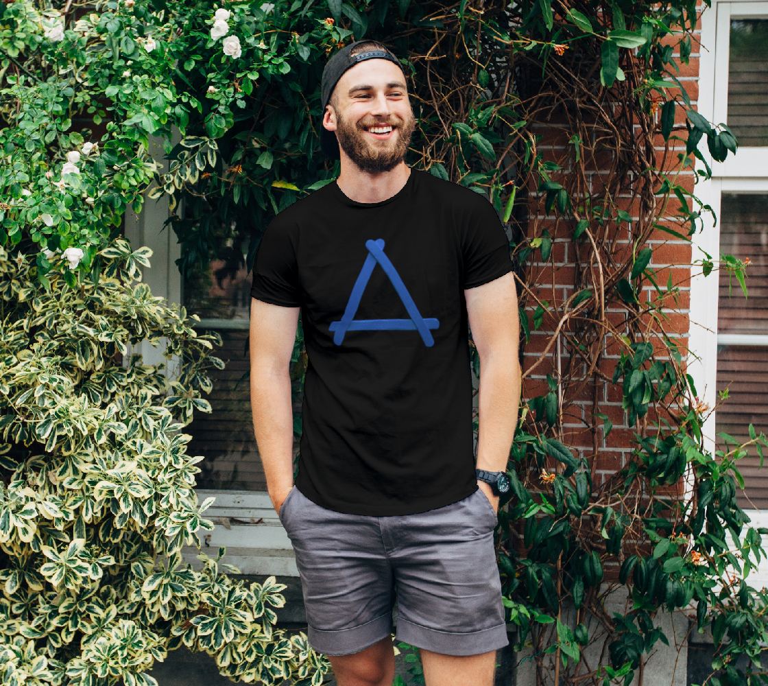 Popstick Triangle in Blue Unisex Tee preview