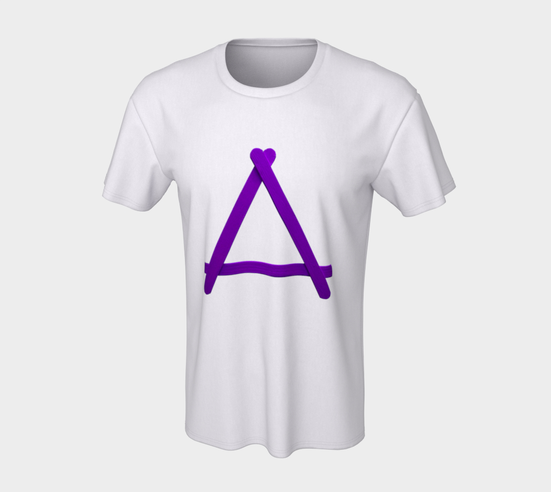 Popstick Triangle in Purple Unisex Tee preview #7