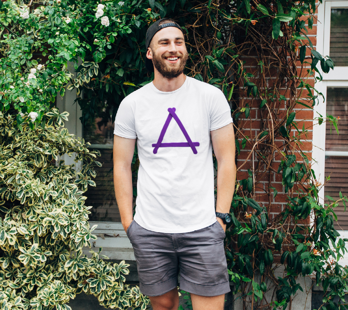 Popstick Triangle in Purple Unisex Tee preview