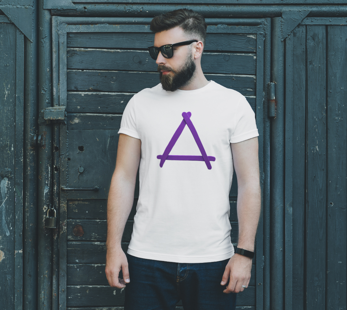 Popstick Triangle in Purple Unisex Tee preview #2