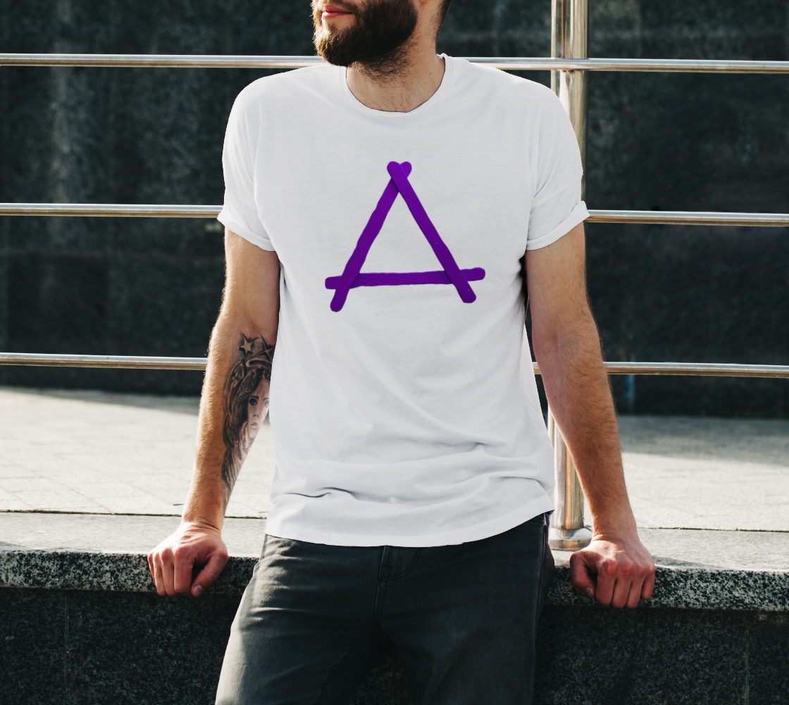 Popstick Triangle in Purple Unisex Tee preview #3