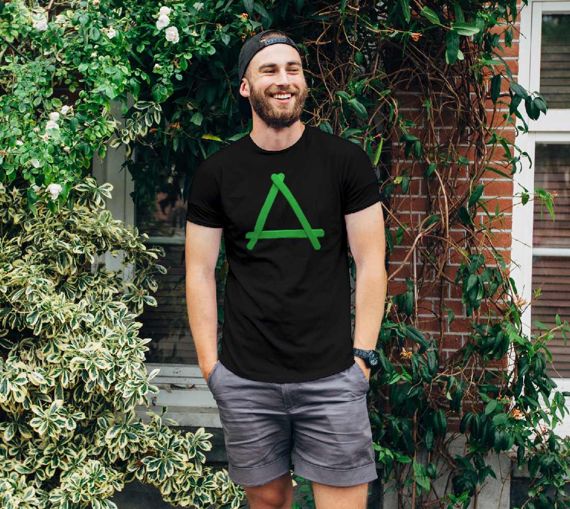 Popstick Triangle in Green Unisex Tee preview