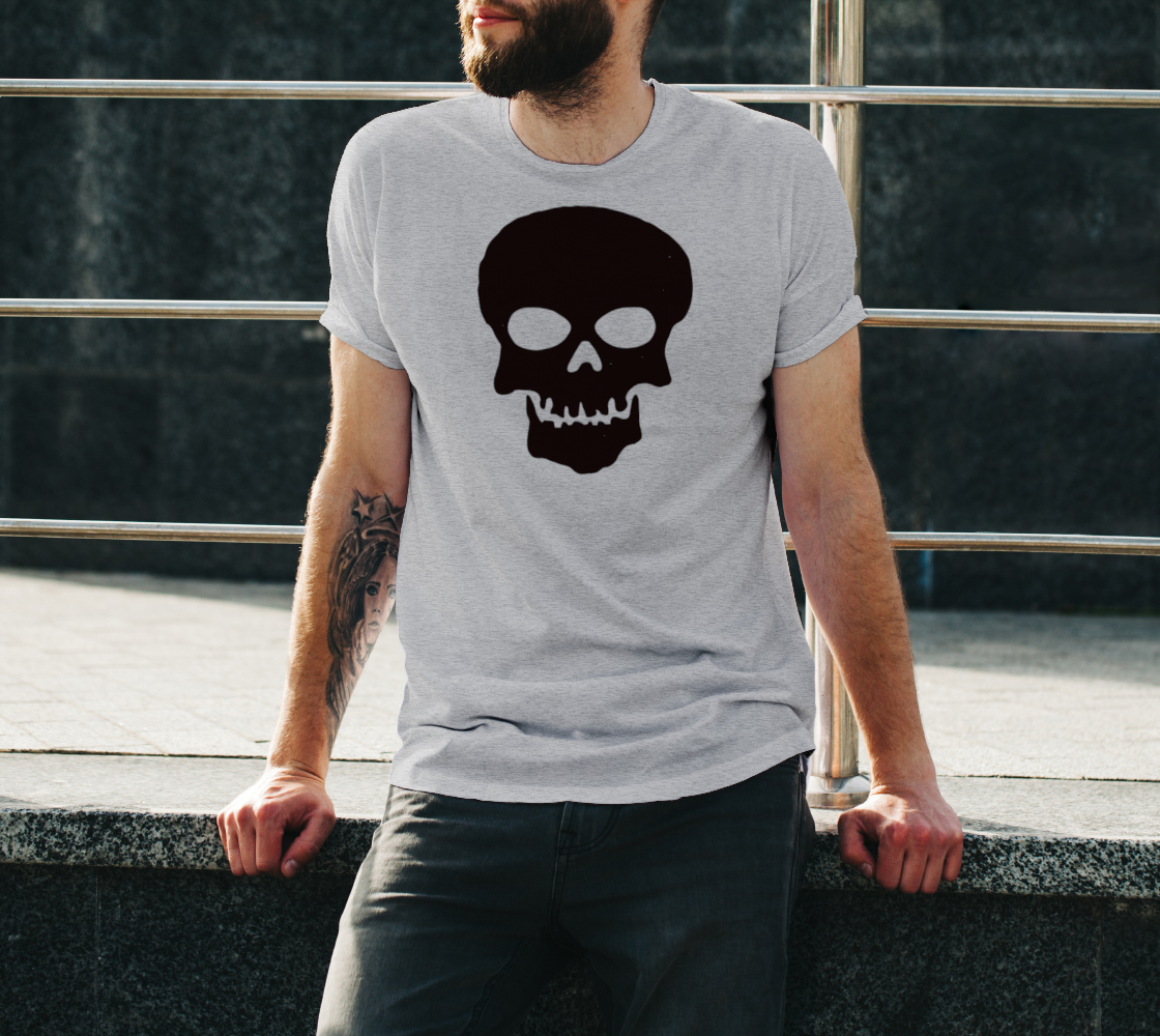 Basic Cartoon Skull unisex t shirt preview #3
