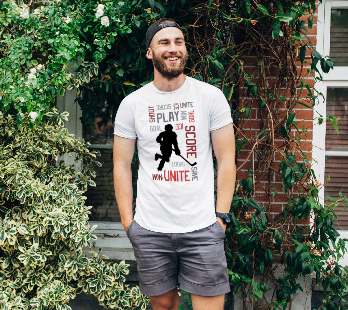 For the Love of Hockey Unisex Tee - Red preview
