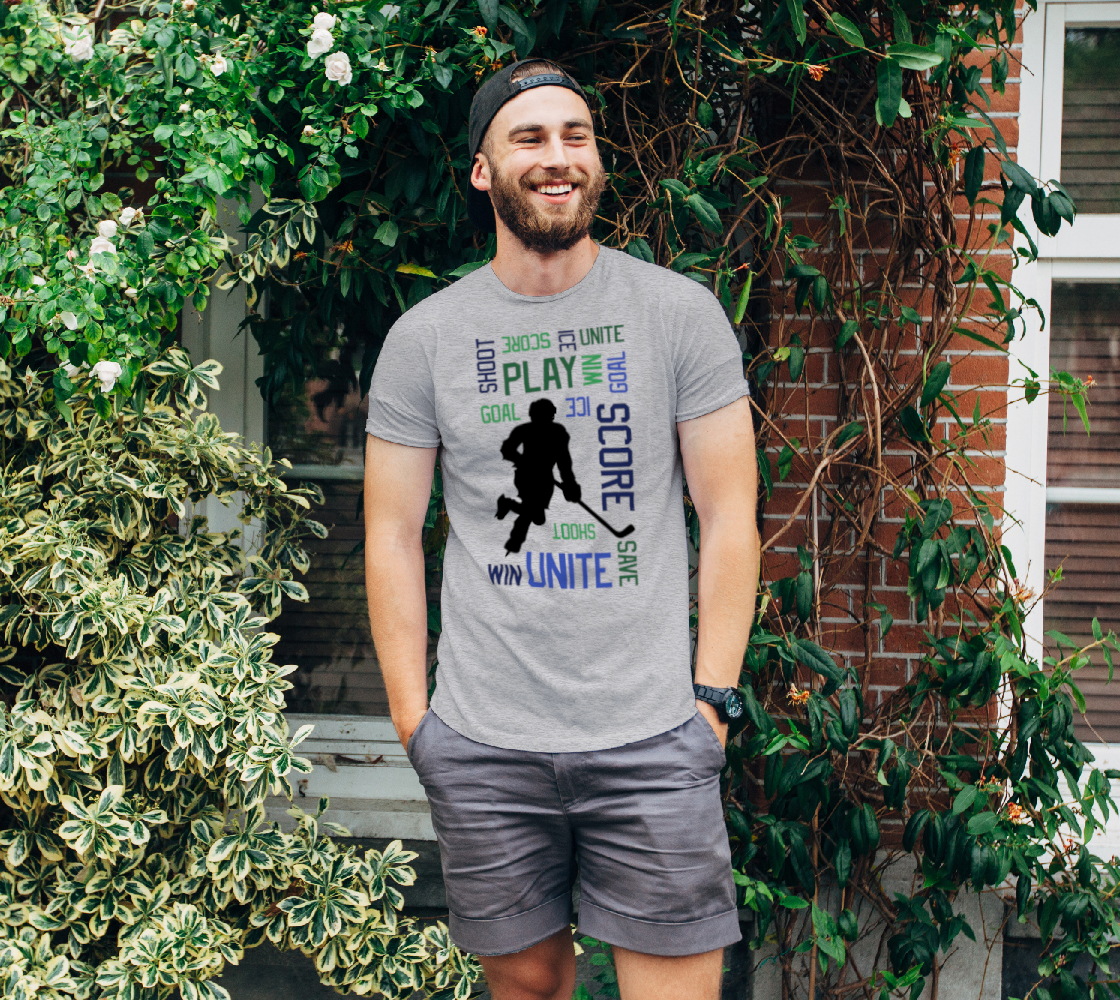 For the Love of Hockey Unisex Tee - Blue preview