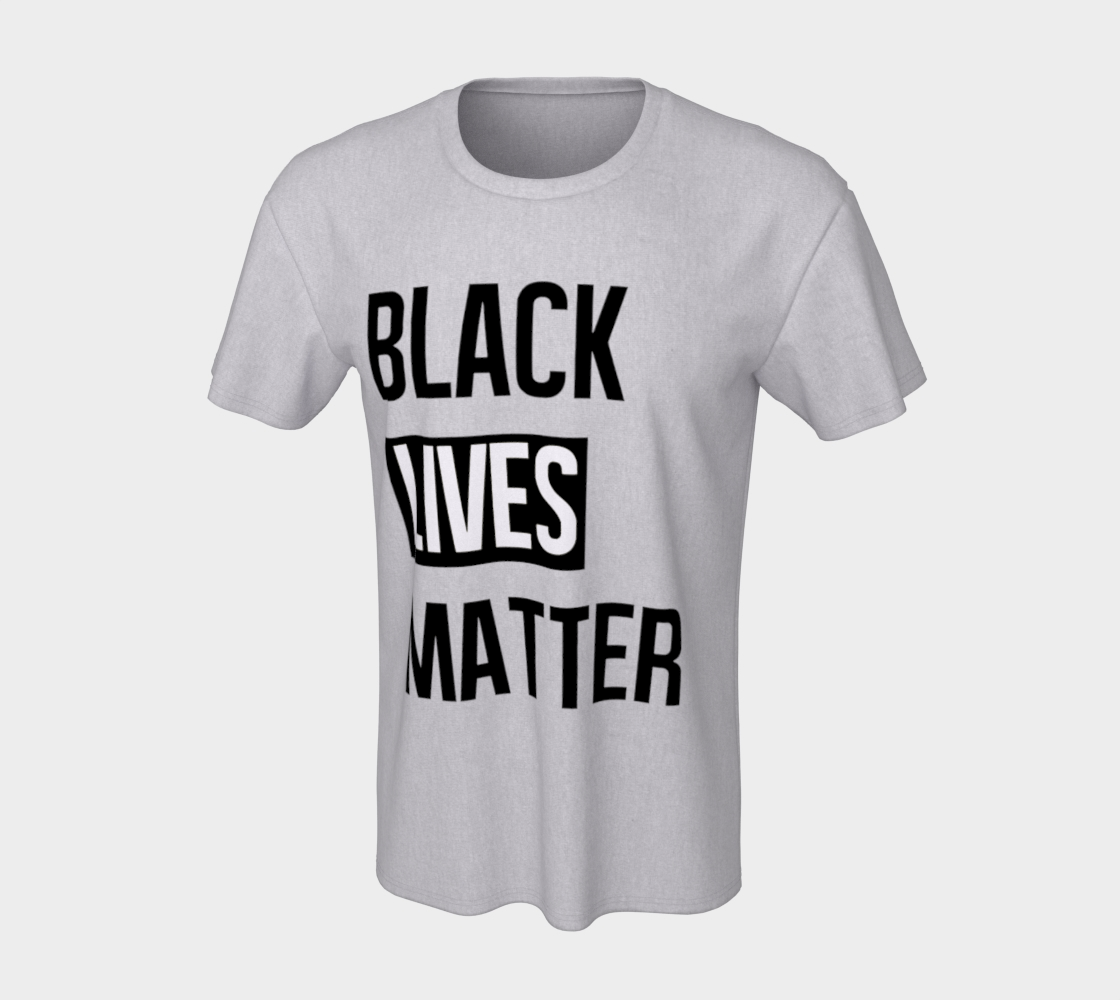 Black Lives Matter Bold BLM Typography Unisex T-Shirt, AOWSGD preview #7