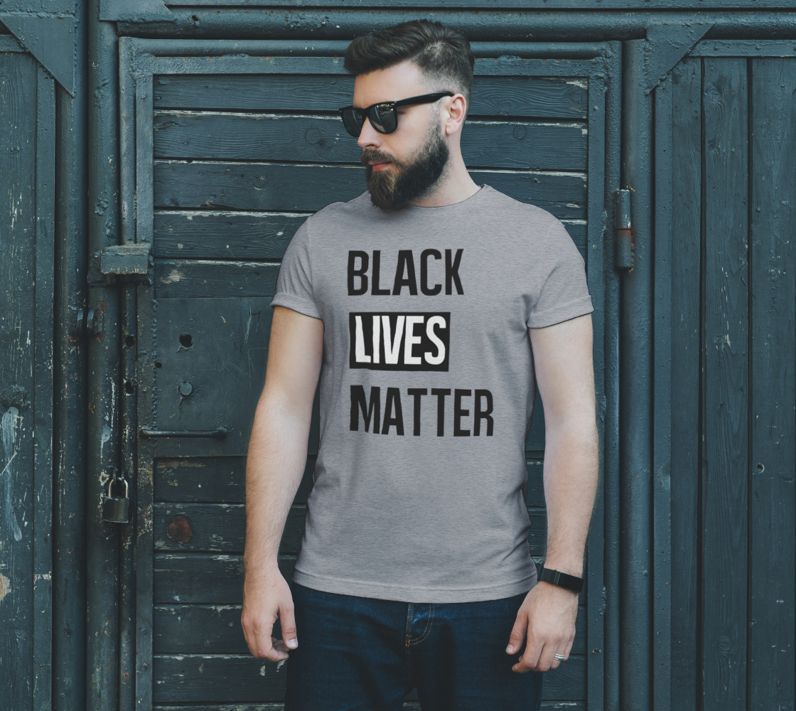Black Lives Matter Bold BLM Typography Unisex T-Shirt, AOWSGD preview #2