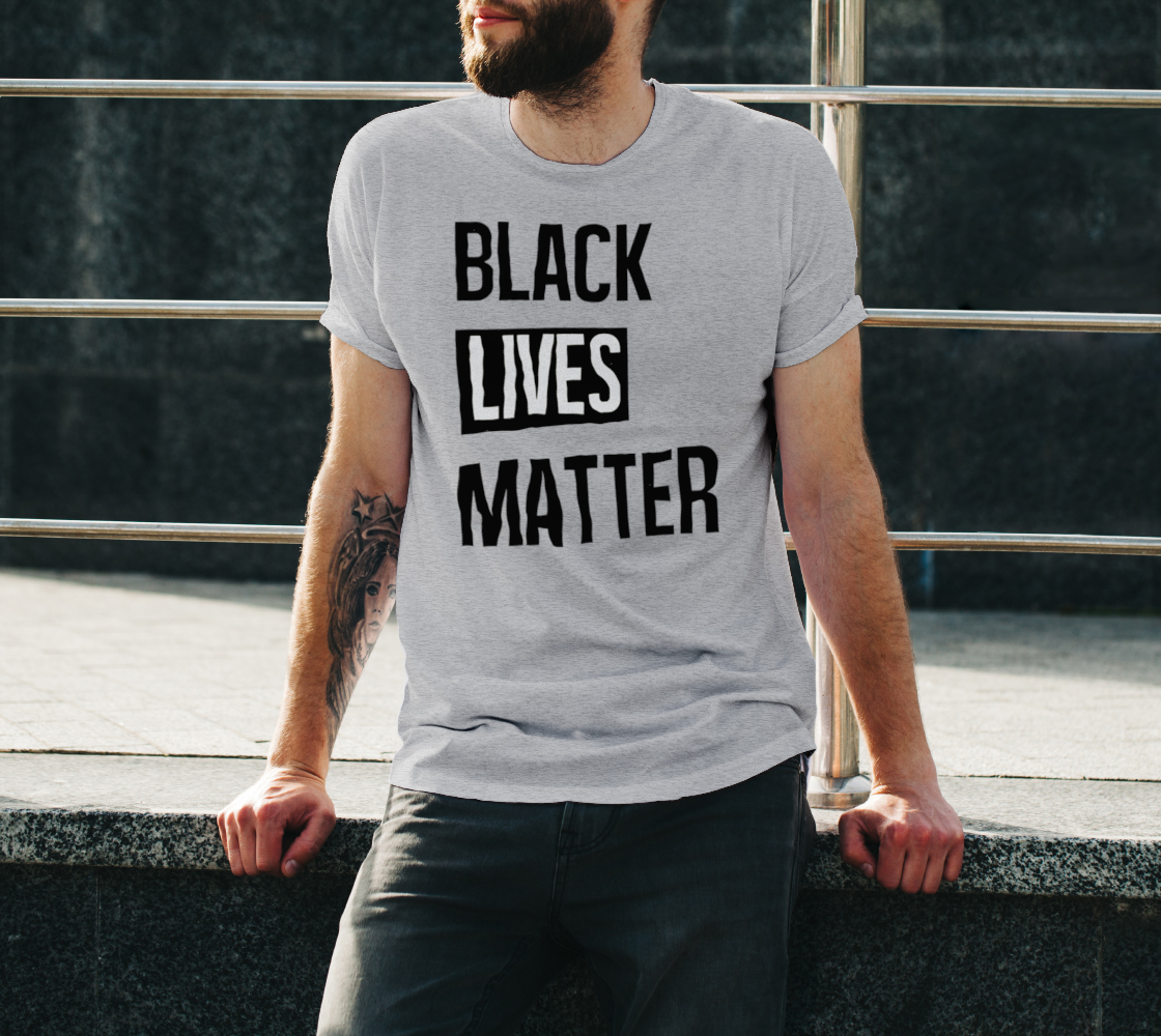 Black Lives Matter Bold BLM Typography Unisex T-Shirt, AOWSGD preview #3