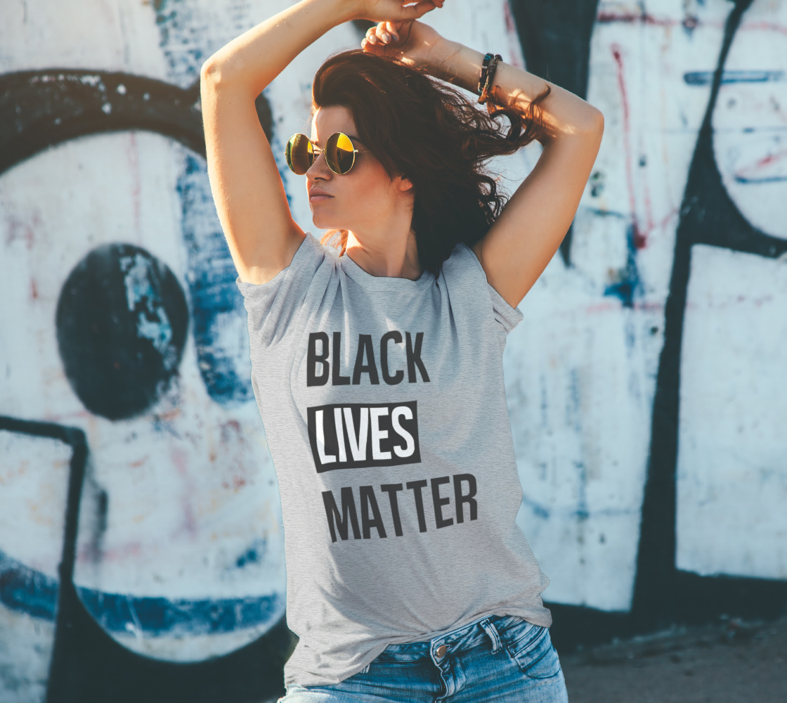 Black Lives Matter Bold BLM Typography Unisex T-Shirt, AOWSGD preview #4