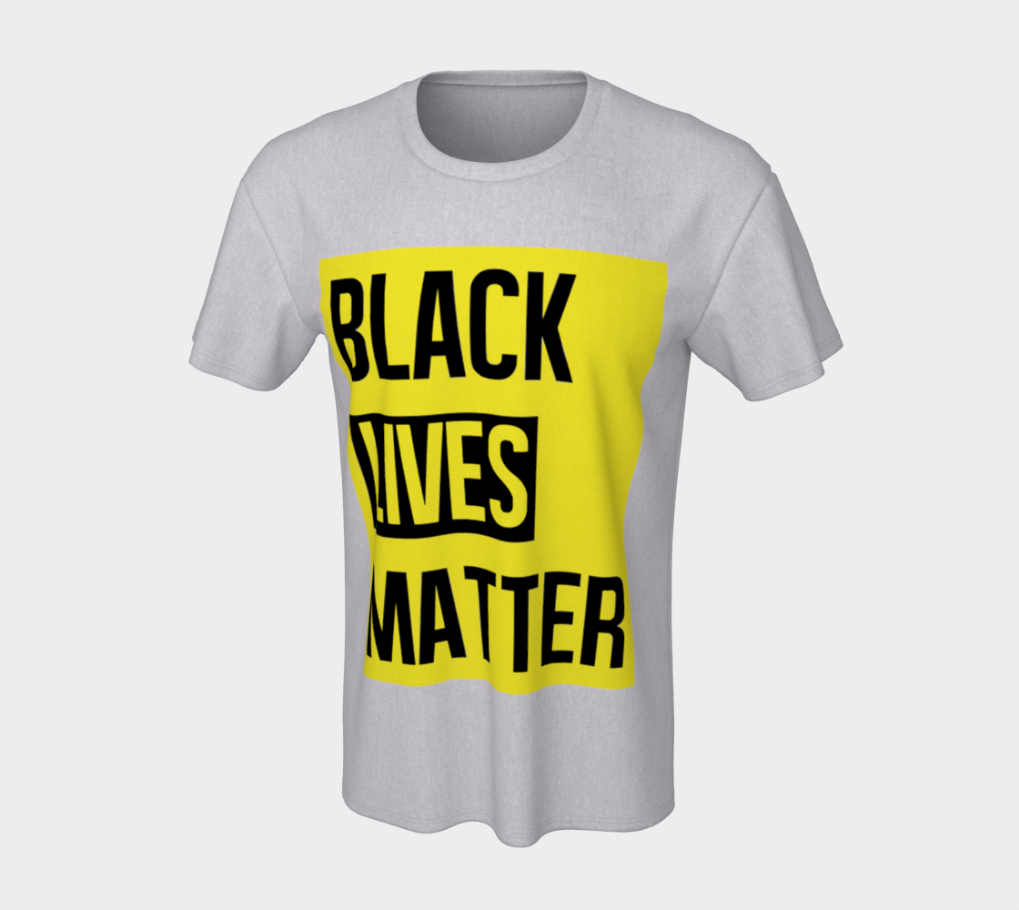 Black Lives Matter Bold Quote Yellow Background Men's T-Shirt, AWSDG preview #7