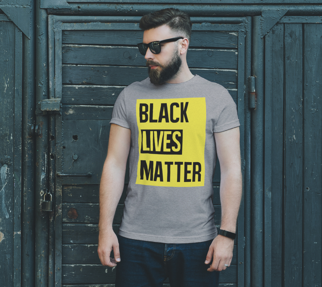 Black Lives Matter Bold Quote Yellow Background Men's T-Shirt, AWSDG preview #2