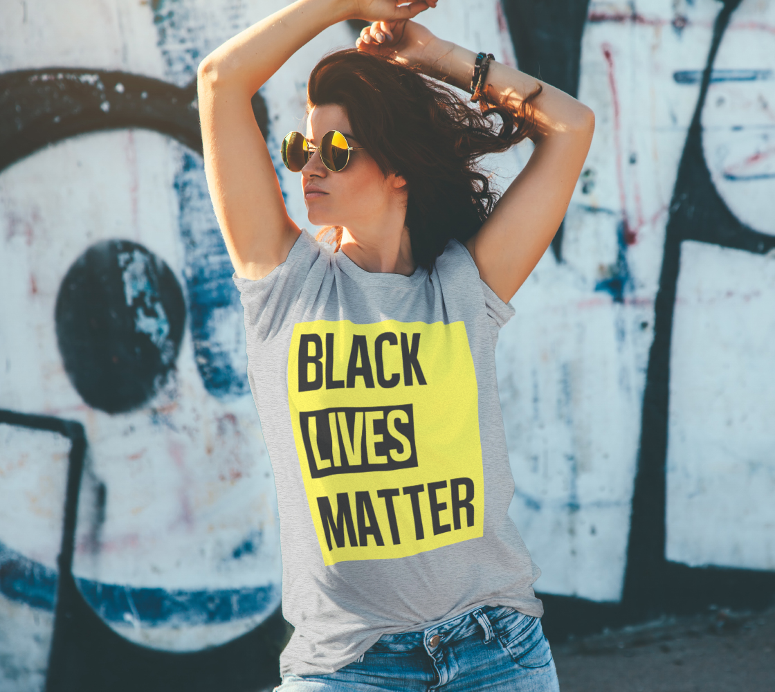 Black Lives Matter Bold Quote Yellow Background Men's T-Shirt, AWSDG preview #4
