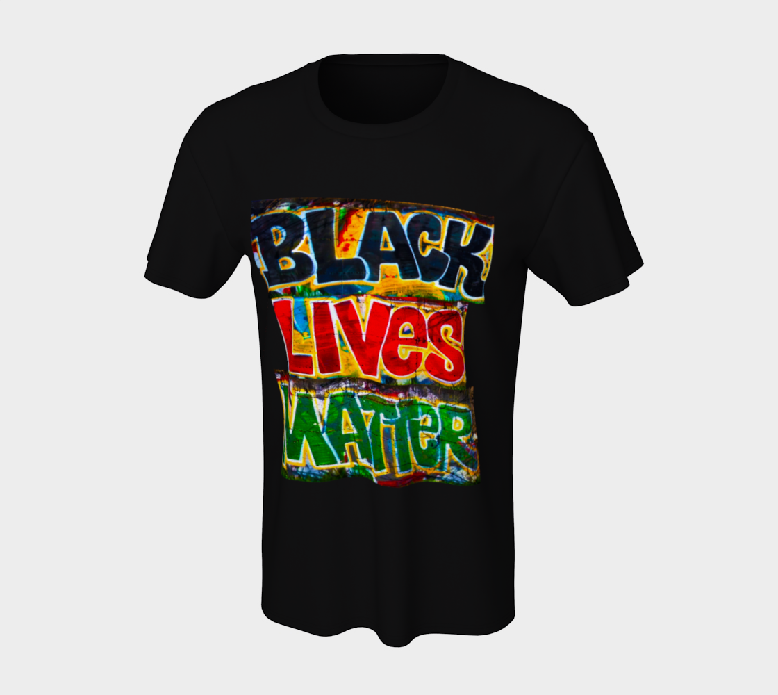 Black Lives Matter Graffiti Wall Unisex T-Shirt, AOWSGD preview #7