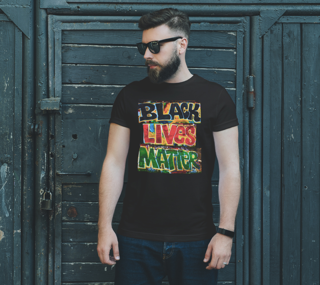 Black Lives Matter Graffiti Wall Unisex T-Shirt, AOWSGD preview #2