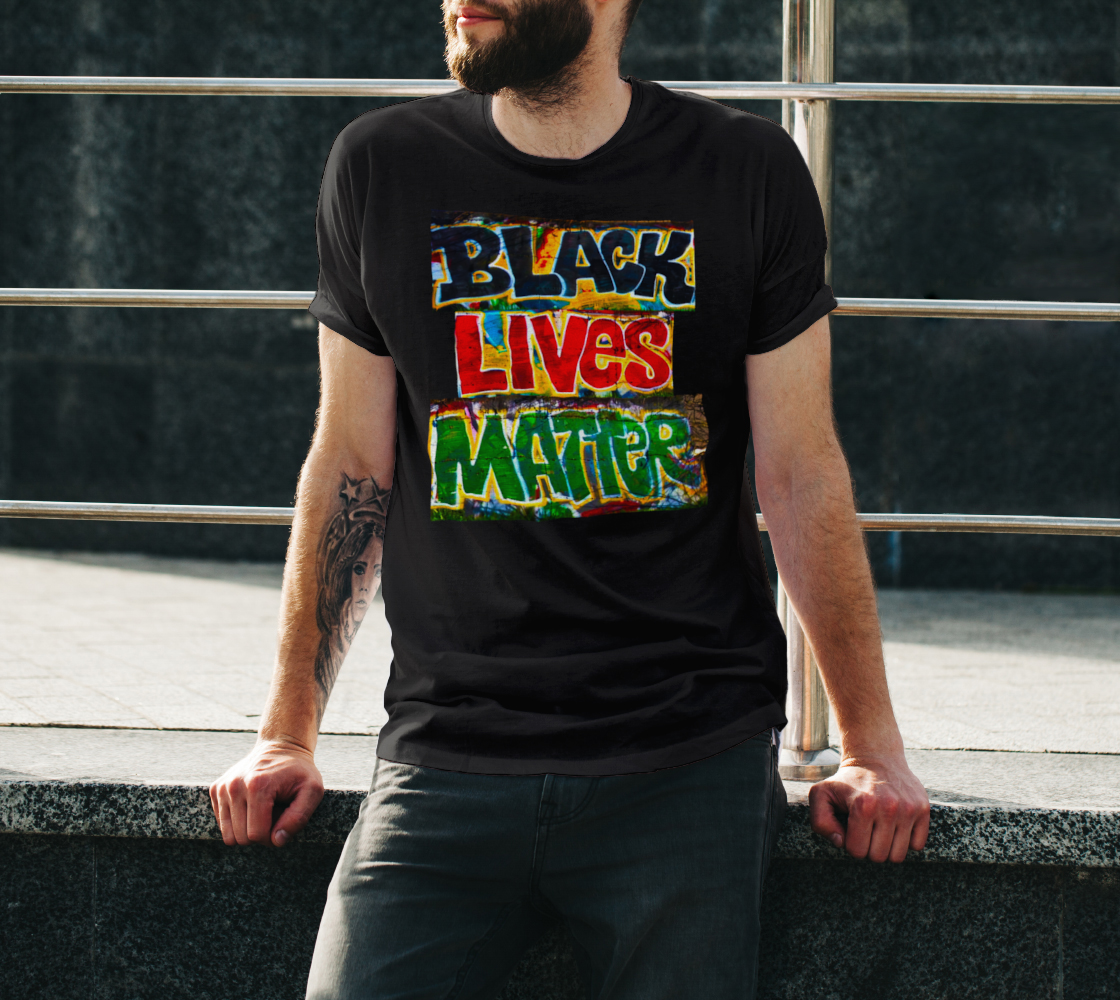 Black Lives Matter Graffiti Wall Unisex T-Shirt, AOWSGD preview #3