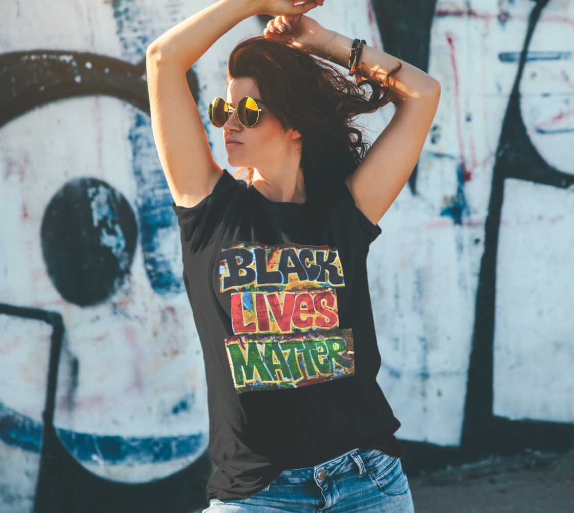 Black Lives Matter Graffiti Wall Unisex T-Shirt, AOWSGD preview #4