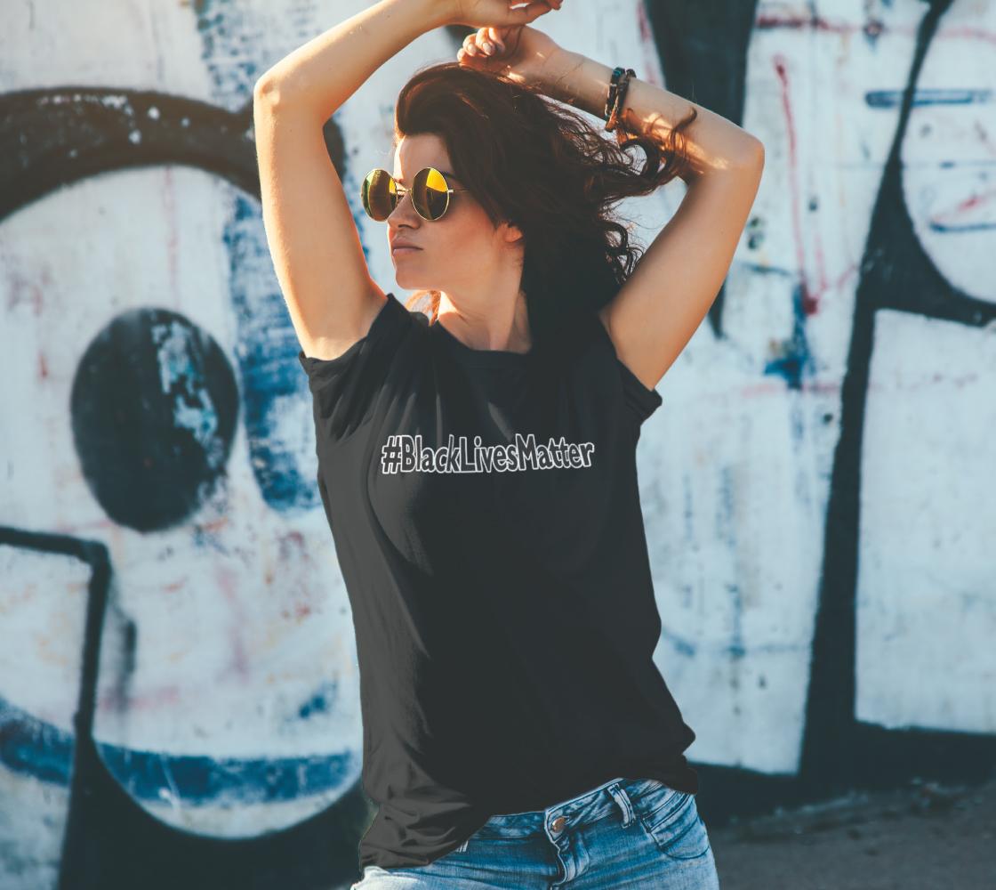 Black Lives Matter Hashtag #BlackLivesMatter BLM Unisex T-Shirt, AOWSGD preview #4