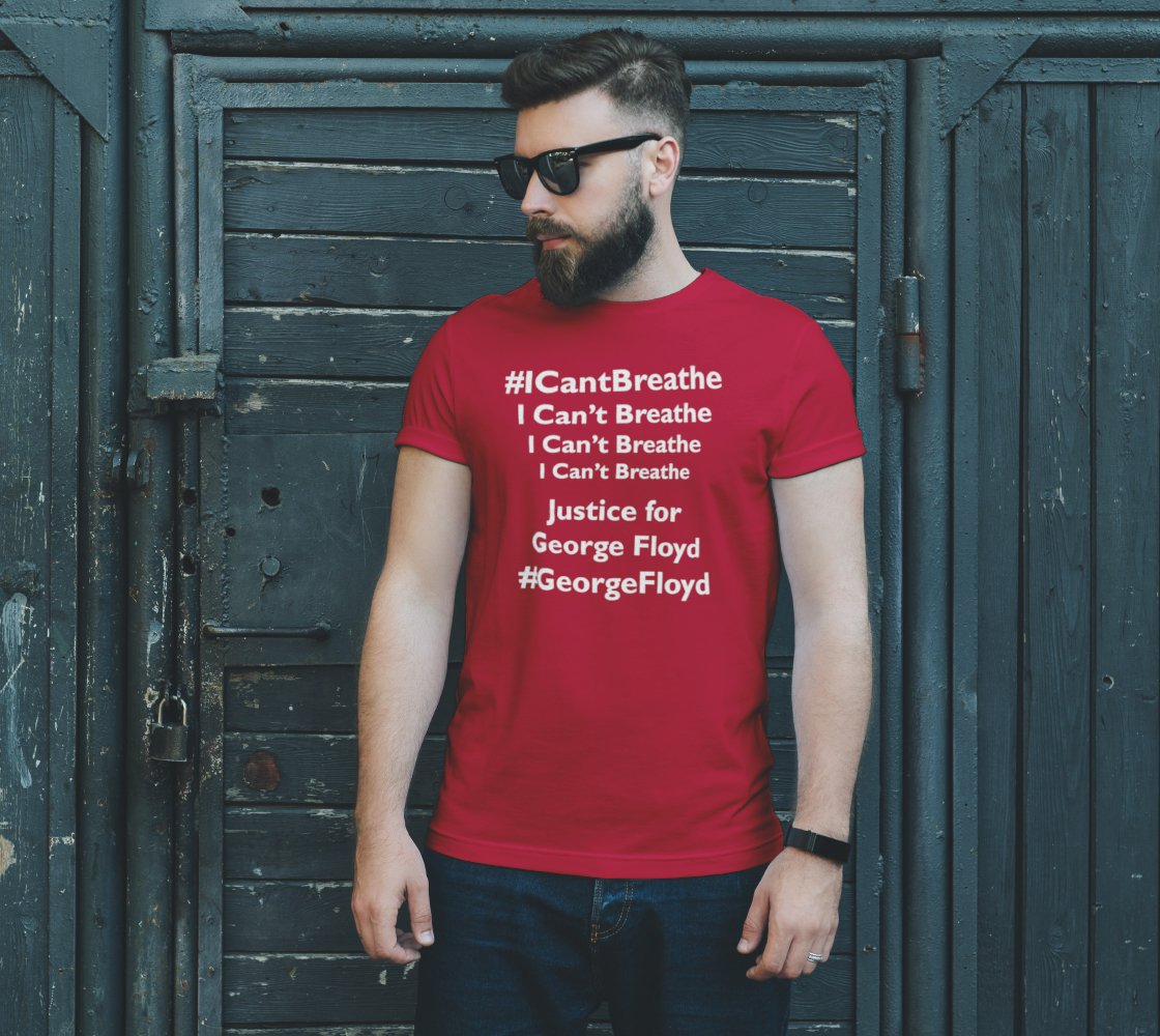 I Can't Breathe George Floyd Last Words BLM Unisex T-Shirt, AOWSGD preview #2