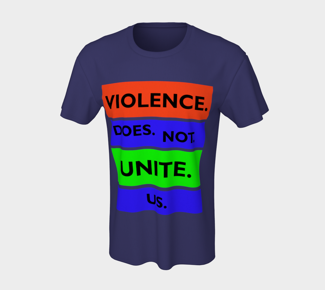Violence Does Not Unite Us Period Unisex T-Shirt, AOWSGD preview #7