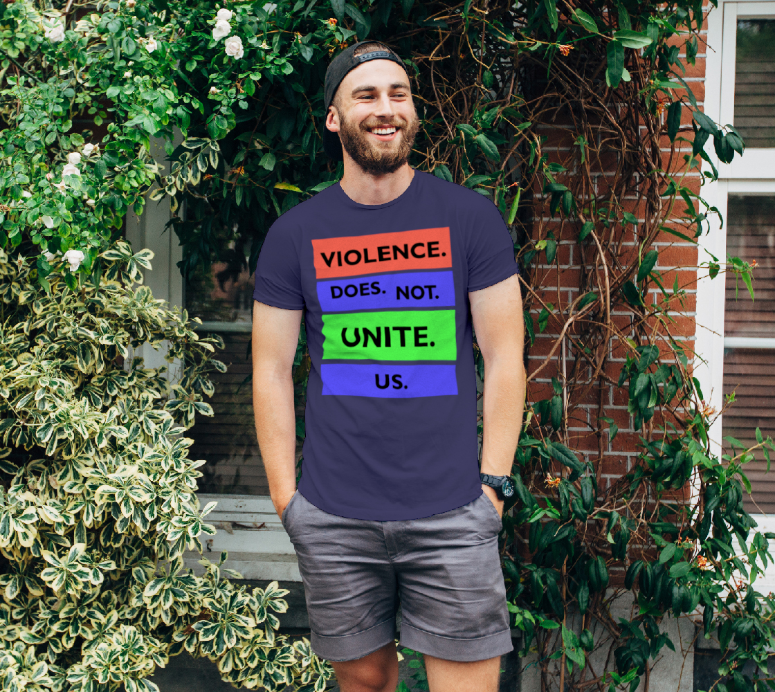 Aperçu de Violence Does Not Unite Us Period Unisex T-Shirt, AOWSGD