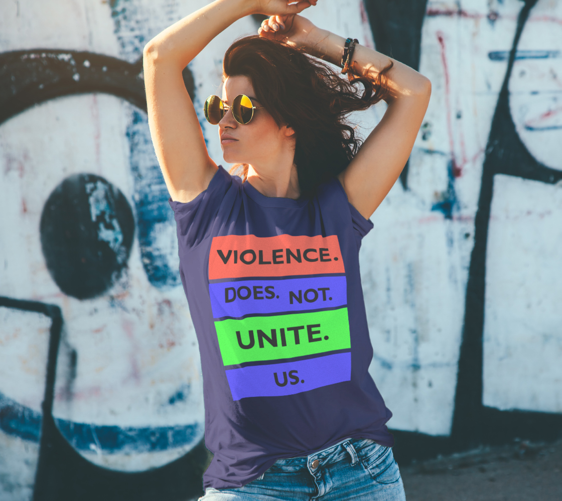 Violence Does Not Unite Us Period Unisex T-Shirt, AOWSGD preview #4