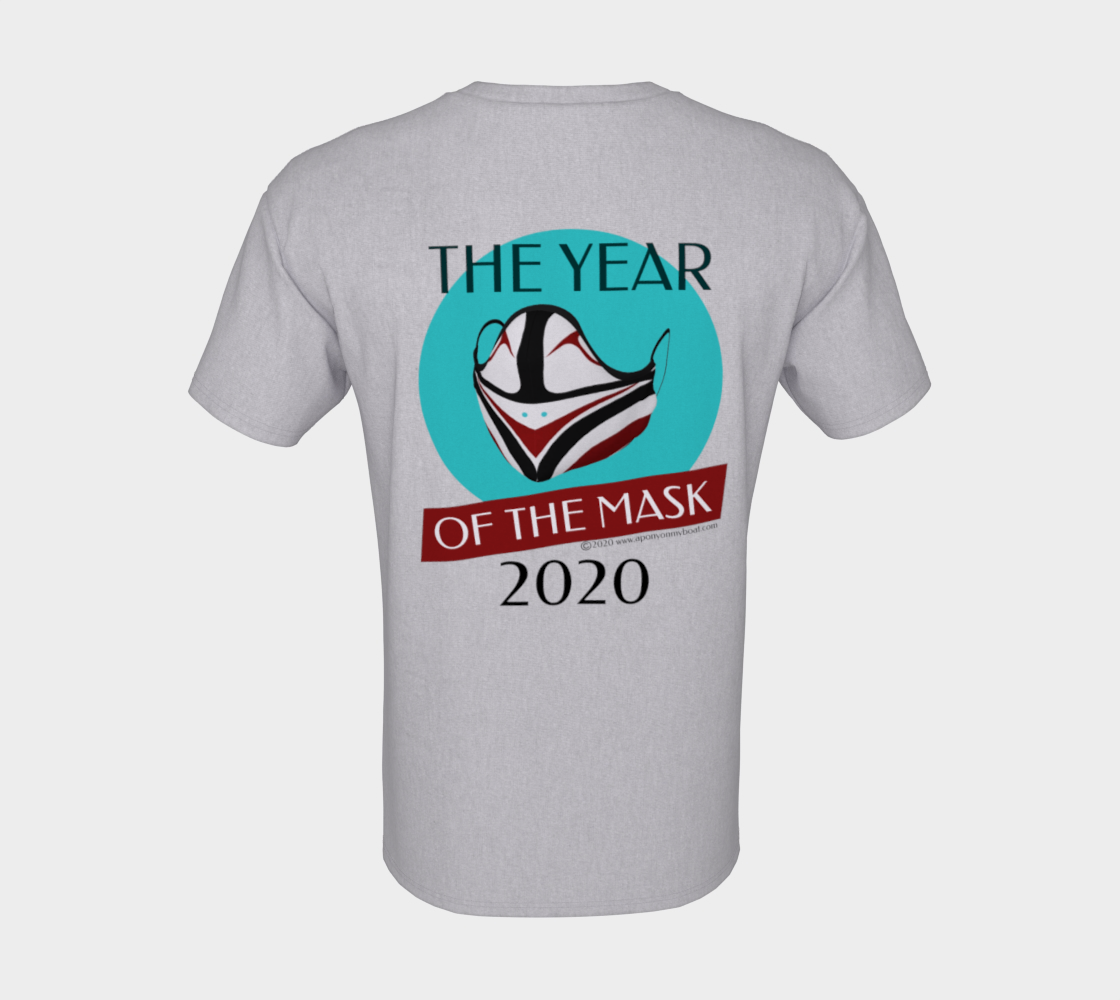 The Year of The Mask T Northwest Native Art - Pocket Logo & Back Heather preview #8