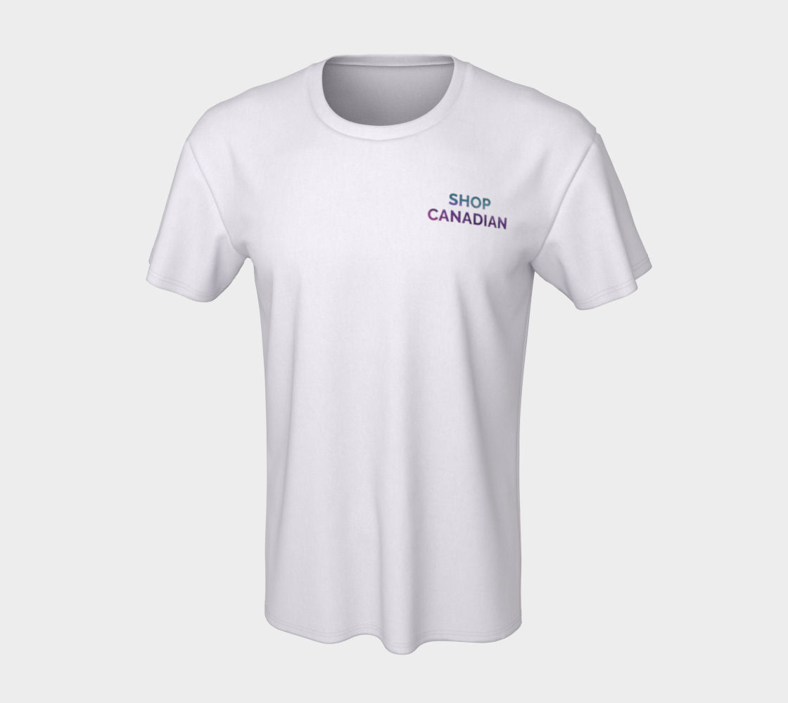 Shop Canadian - white unisex tee with multicolour text preview #7