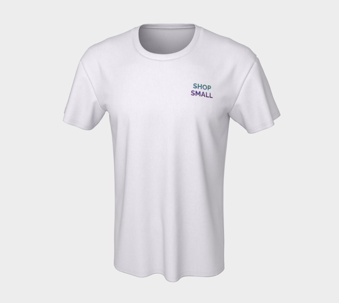 Shop Small - white unisex tee with multicolour text preview #7