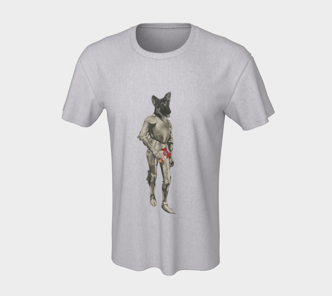 Dog Knight unisex-tee by Nadina Tandy preview #7