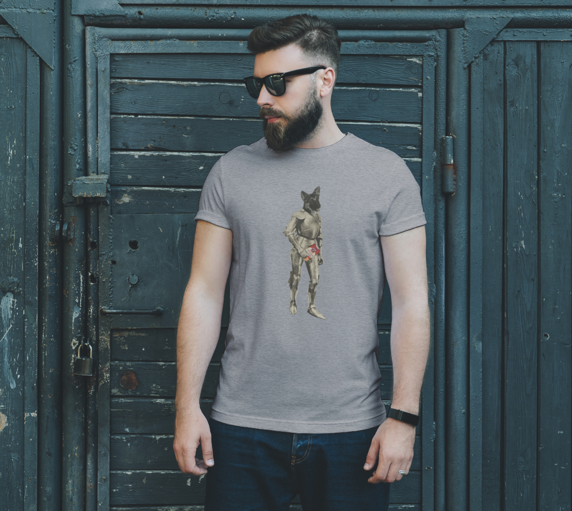 Dog Knight unisex-tee by Nadina Tandy preview #2
