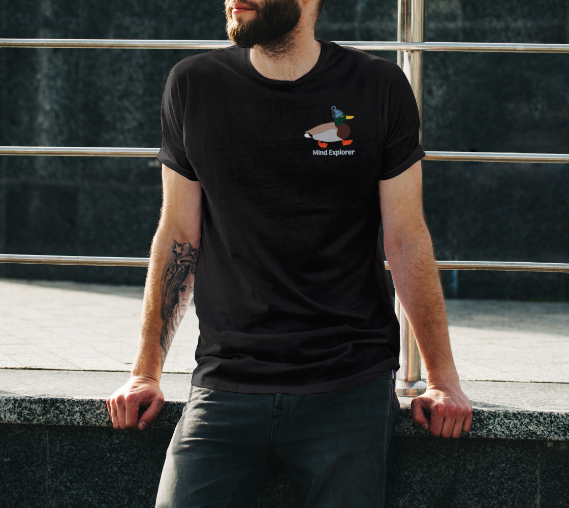 Mind Explorer with Toque Unisex Tee preview #3