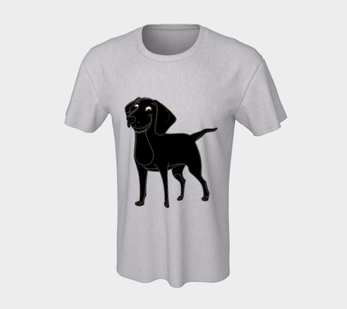 Labrador Retriever Black Cartoon Tee preview #7